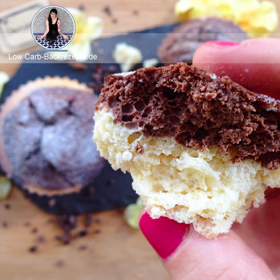 low carb schoko vanille cheesecake muffins. Black Bedroom Furniture Sets. Home Design Ideas